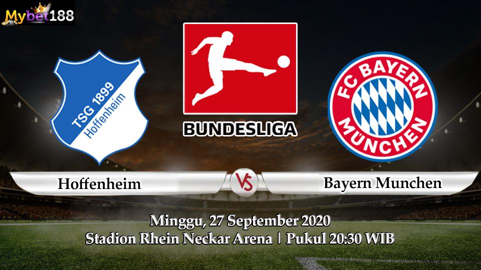Prediksi Pertandingan Hoffenheim VS Bayern Munich 27 September 2020