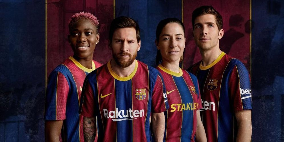 Resmi, Barcelona Luncurkan Jersey Baru untuk kompetisi ...